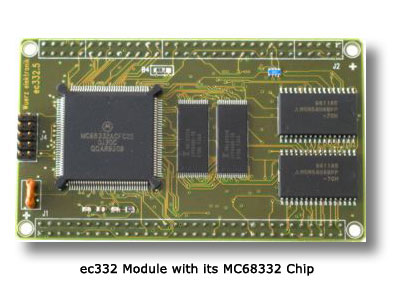 ec332 Module with its MC68332 Chip