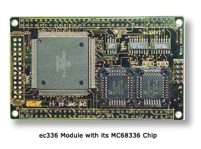 ec336 Module with its MC68336 Chip